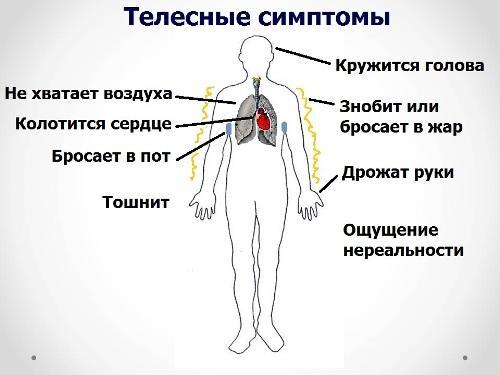 Симптомы вегето-сосудистой