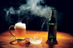 Вредные привычки - причина развития ишемии миокарда