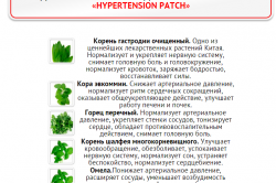 Состав пластыря Hypertension Patch